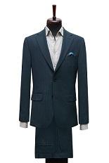 Gentlemen`s Corner Slim Fit Business Green Suit