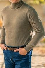 Gentlemen`s Corner Beige Turtleneck Sweater