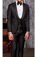 Gentlemen`s Corner Slim Fit Dinner Suit - David Black