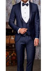 Gentlemen`s Corner Slim Fit Dinner Suit - David Navy