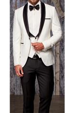 Gentlemen`s Corner Slim Fit Dinner Suit - David Ivory