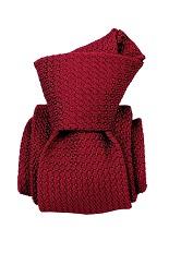 Gentlemen`s Corner Navy Grenadine Silk Tie - Bordeaux-