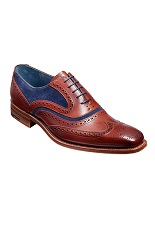 Barker McClean Shoes - Rosewood Calf / Navy Suede-