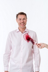 Gentlemen`s Corner Pink Shirt - Resists Stains and Perspiration