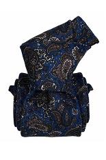 Gentlemen`s Corner Black with Paisley Pattern Silk Tie