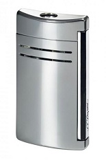 S.T. Dupont MaxiJet Lighter - Pearl Chrome Grey