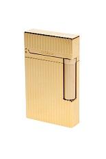 S.T. Dupont Lighter - Gold Montparnasse Vertical Lines