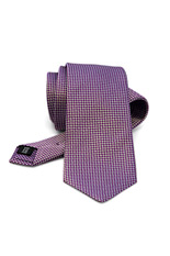 Purple Jacquard Silk Tie