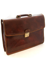 Foggia Leather Briefcase