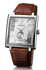 Ceas MILUS - HERIOS AUTOMATIC STEEL - BROWN