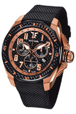Ceas TF Est. Quartz Rose Gold - Black