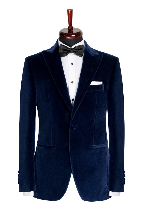 Sacou smoking catifea Slim Fit Gentlemen`s Corner - Navy