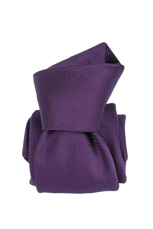 Cravata matase Six-Fold Gentlemen`s Corner - Dark Purple - NOU!
