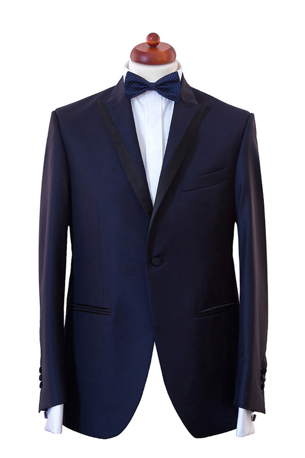 Sacou smoking Slim Fit Gentlemen`s Corner - Tasmanian Blue
