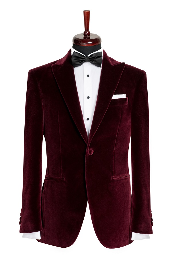 Sacou smoking catifea Slim Fit Gentlemen`s Corner - Bordeaux