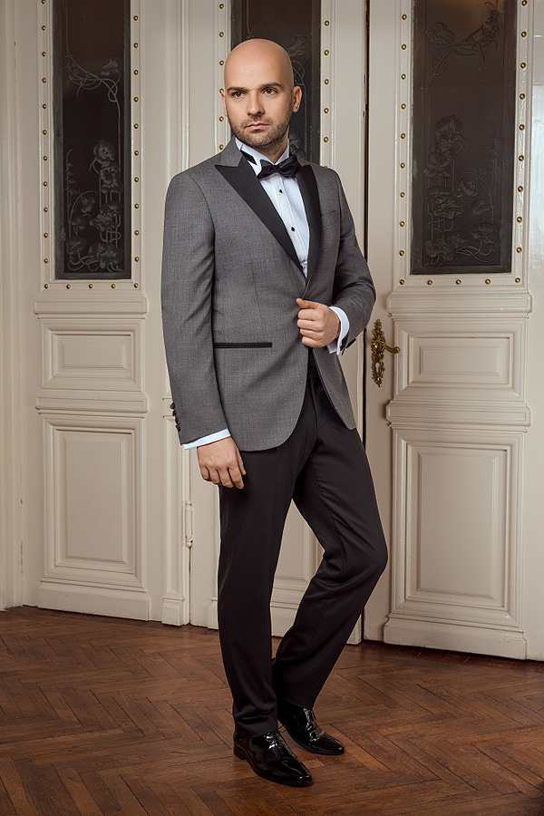 Sacou smoking Slim Fit Gentlemen`s Corner - Essex Grey - NOU!
