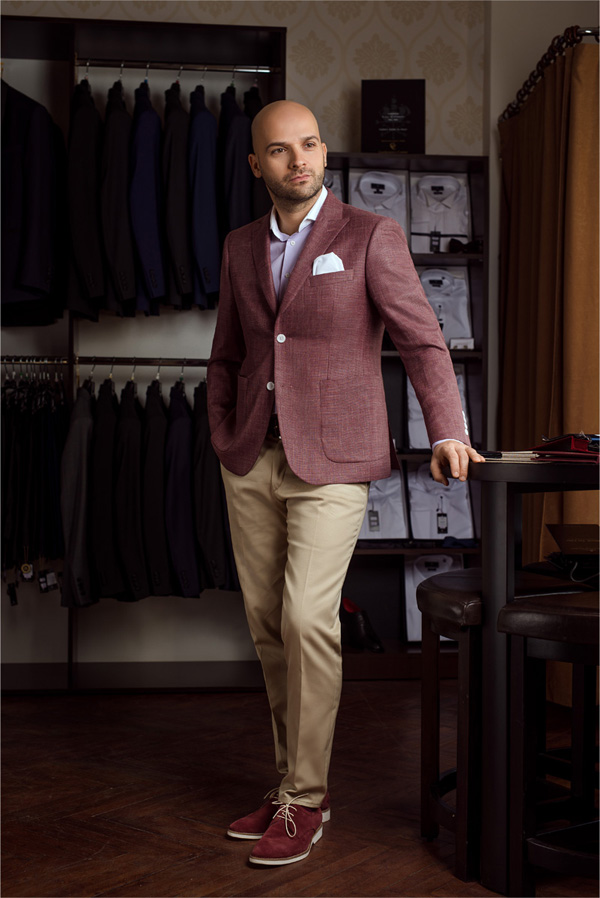 Sacou casual Slim Fit Gentlemen`s Corner - burgundy - NOU!