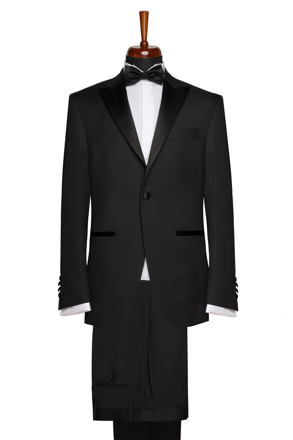 Costum ceremonie Slim Fit Gentlemen`s Corner - Essex Black - NOU!