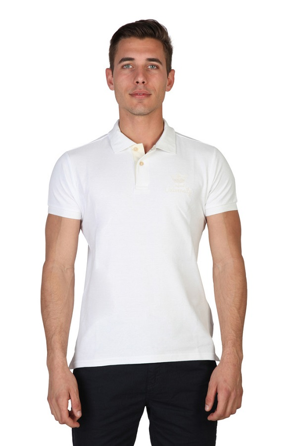 Tricou Polo Oxford University - White