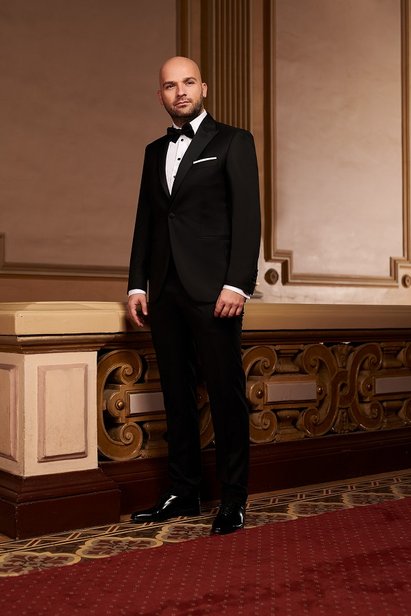 Costum barbati ceremonie Slim Fit Gentlemen`s Corner - Black Tie