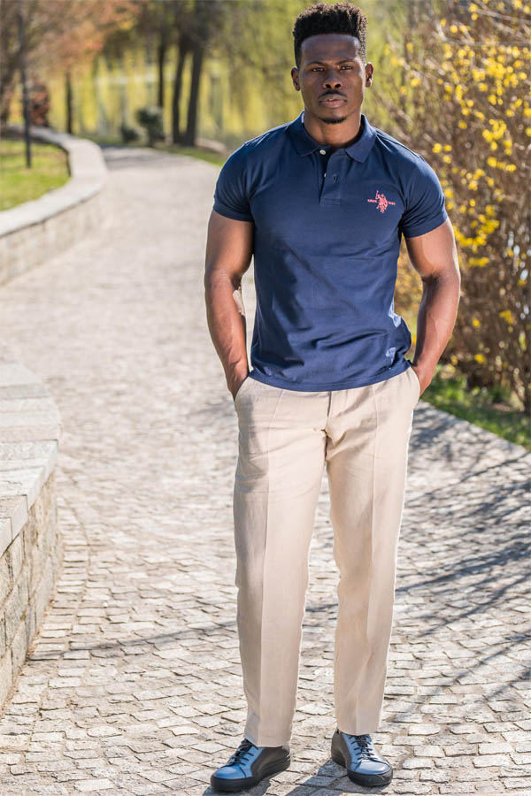 Pantaloni crem in Slim Fit Gentlemen`s Corner