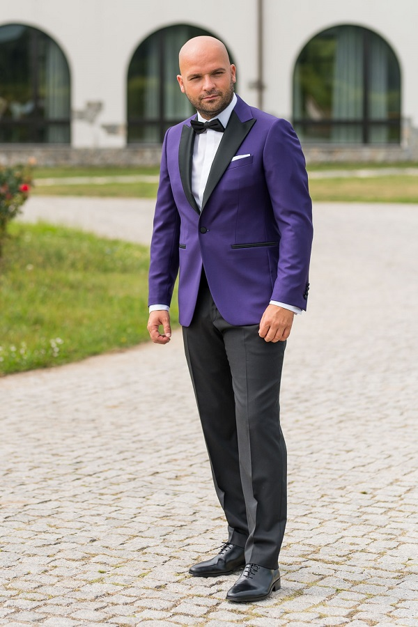 Costum barbati ceremonie Slim Fit Gentlemen`s Corner - Purple