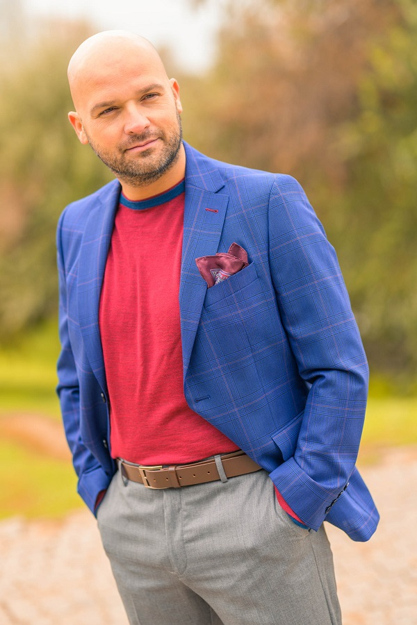 Pulover Gentlemen`s Corner Smith Rosu