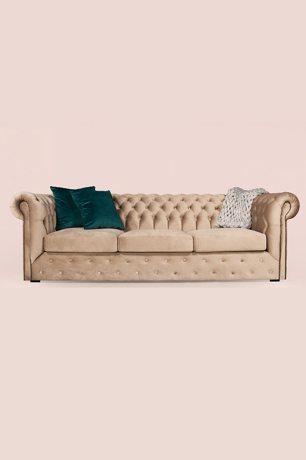 Canapea Chesterfield Clasic 220 x 105 x 70 cm